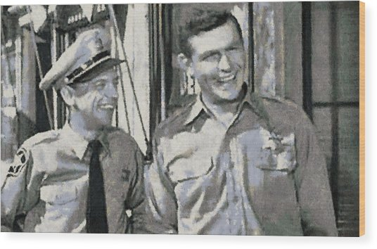 Barney Fife And Andy Taylor Wood Print