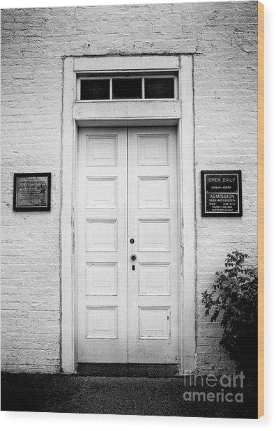 Barney's Doors Wood Print