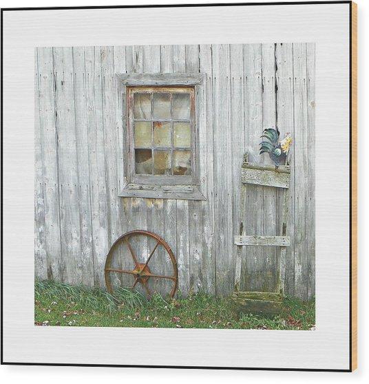 Barnwood Decor Wood Print by Dianne  Lacourciere