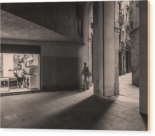 Barri Del Born, Barcelona Wood Print