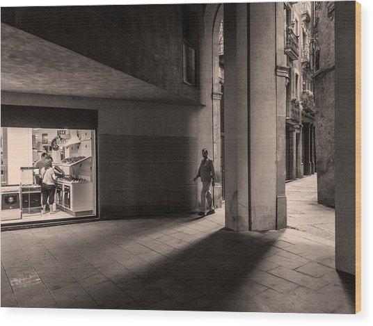 Wood Print featuring the photograph Barri Del Born, Barcelona by Stefano Buonamici
