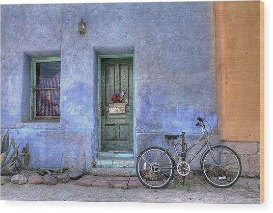 Barrio Bicycle Wood Print