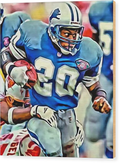 Barry Sanders Wood Print