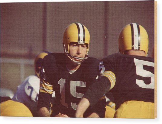Bart Starr Wood Print by Retro Images Archive