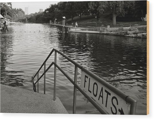 Barton Springs Pool In Austin Wood Print
