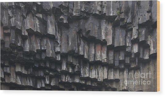 basaltic columns of Svartifoss Iceland Wood Print