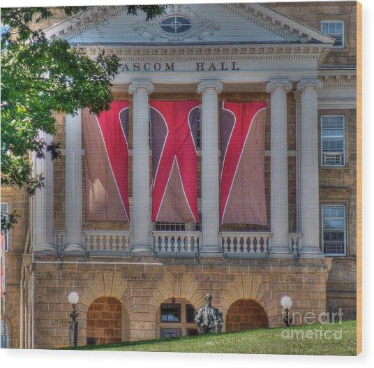 Bascom Hall-on Wisconsin Wood Print