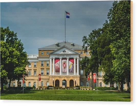 Bascom Hall Wood Print