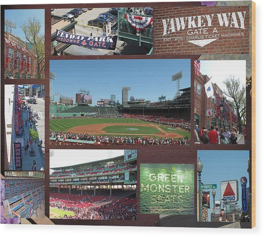 Baseball Collage Wood Print