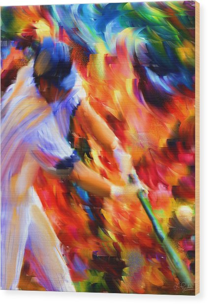 Baseball IIi Wood Print