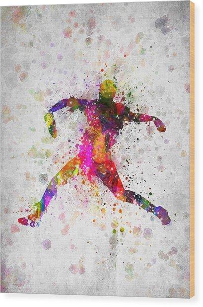 Baseball Player - Pitcher Wood Print