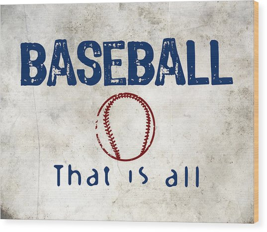 Baseball That Is All Wood Print by Flo Karp