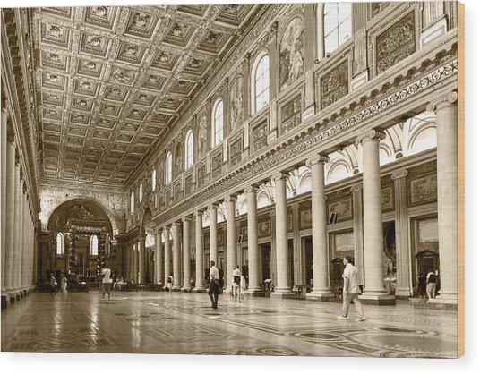 Basilica Di Santa Maria Maggiore Wood Print