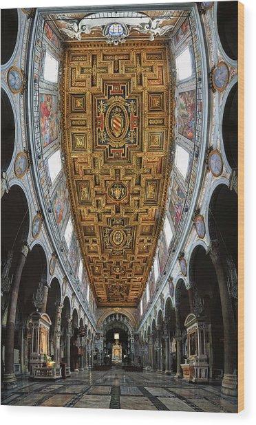 Basilica Di S.maria In Aracoeli Wood Print