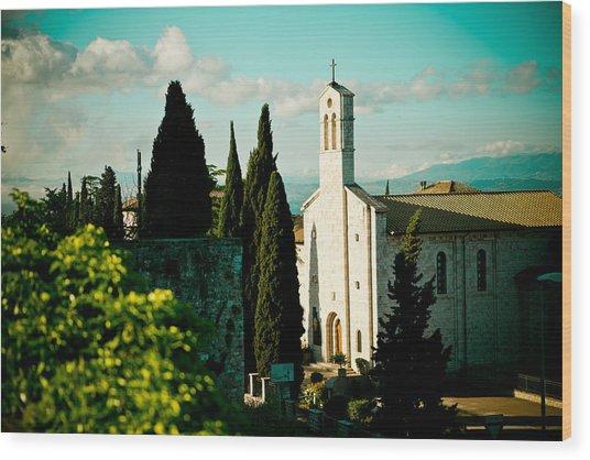 Basilica In Assisi  Wood Print