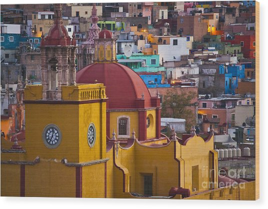 Basilica Of Our Lady Of Guanajuato Mexico Wood Print