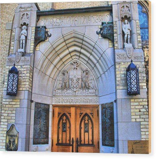 Basilica Of The Sacred Heart Entrance Wood Print