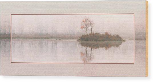 Basin Pond Water Color Wood Print