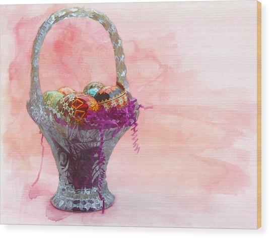 Basket Of Joy Wood Print