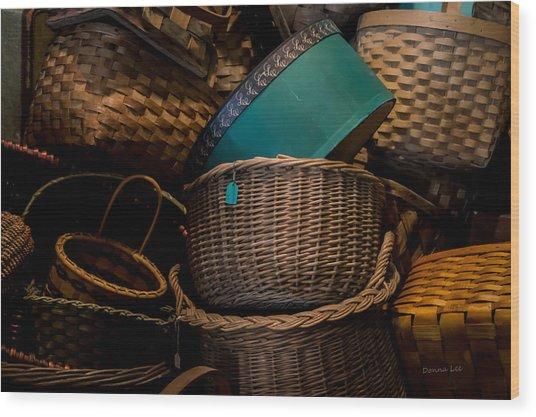 Baskets Galore Wood Print