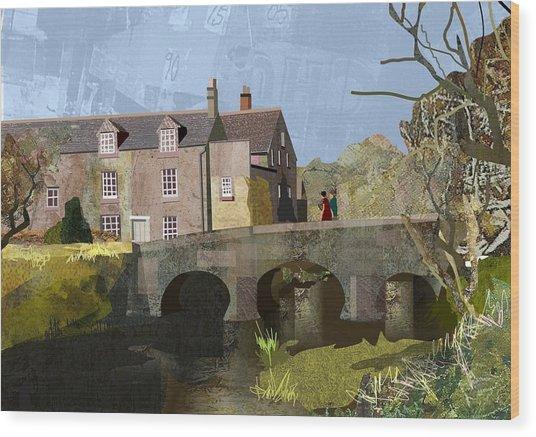 Baslow Bridge Wood Print by Kenneth North