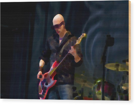 Bass  Guitar Wood Print by Tony Reddington