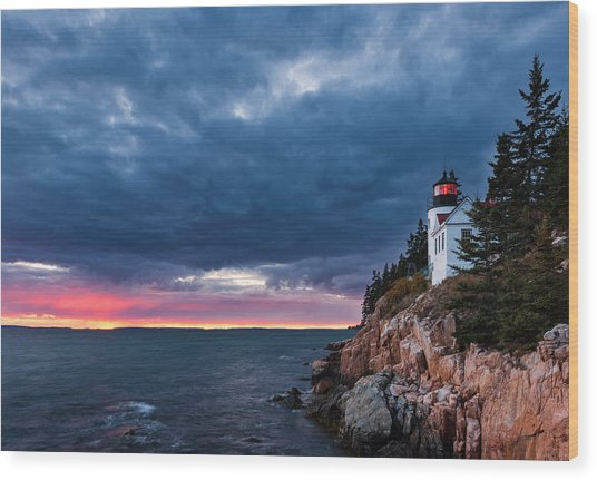 Bass Harbor Attitude Wood Print