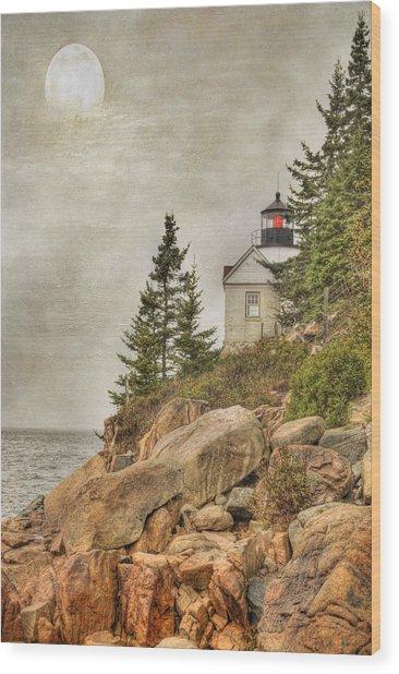 Bass Harbor Head Lighthouse. Acadia National Park Wood Print