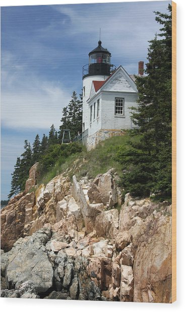 Bass Harbor Light Wood Print by Acadia Photography