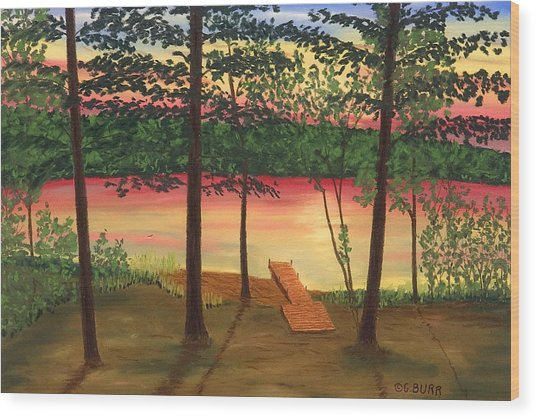 Bass Lake Wood Print