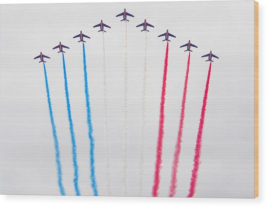Bastille Day Air Show At The Champs-elysees Wood Print