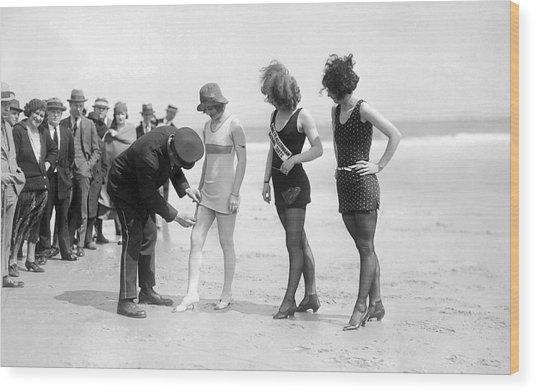Bathing Suit Fashion Police Wood Print