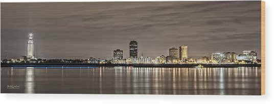 Baton Rouge Skyline Wood Print