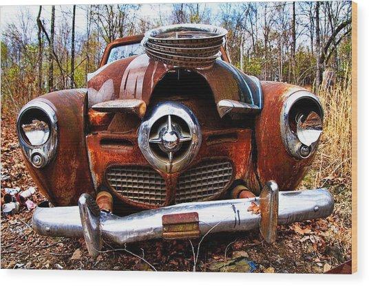 Battered But Still Smiling Wood Print by Norm Hoekstra