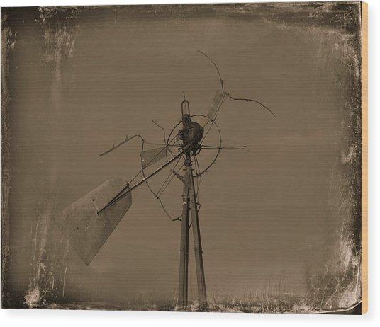 Battered Wood Print by Mikki Cromer