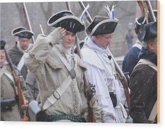 Battle Of Trenton Wood Print