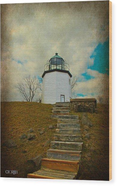 Battlefield Lighthouse  Wood Print