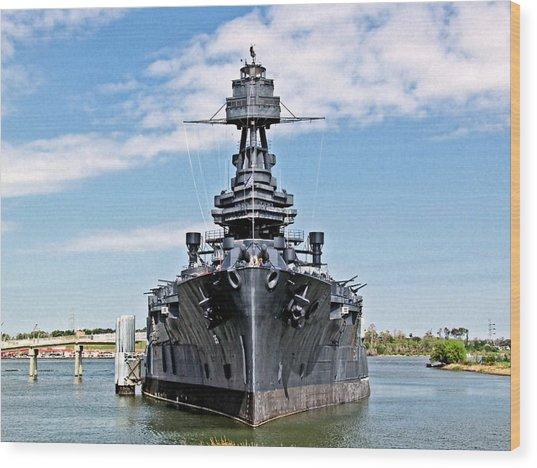 Battleship Texas Wood Print