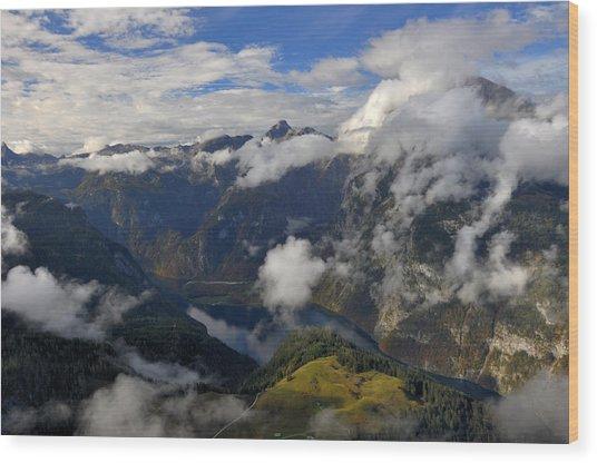Bavarian Alps At Lake Konigssee Wood Print