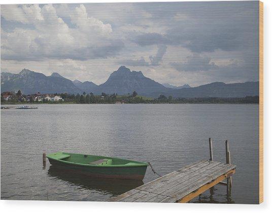 Bavarian Lake Wood Print