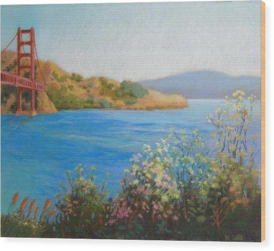 Bay Bridge  Wood Print