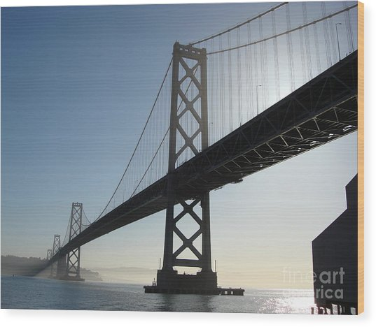 Bay Bridge Morning Wood Print by Mark Etchason