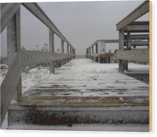 Bay Head Nj Wood Print by Vincent DeLucia