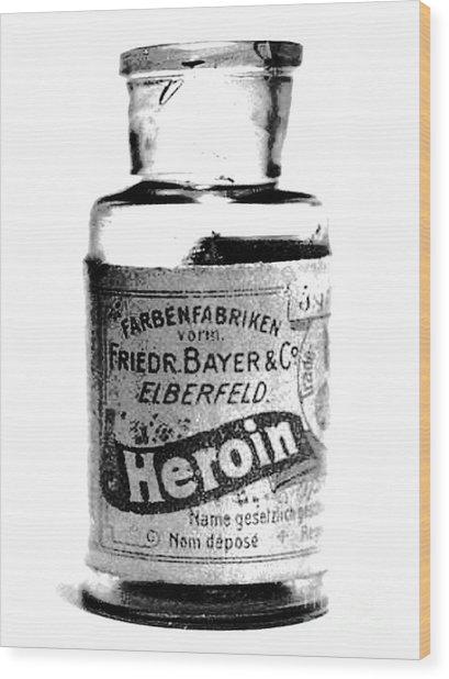 Bayer Company Sells Heroin Around 1900 Wood Print
