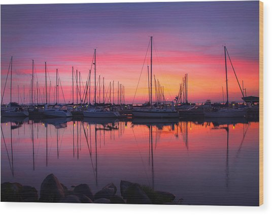 Bayfield Wisconsin Magical Morning Sunrise Wood Print