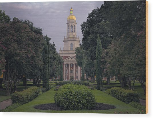 University Tower Wood Print