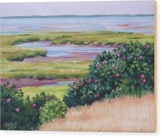 Bayside Marsh Wood Print