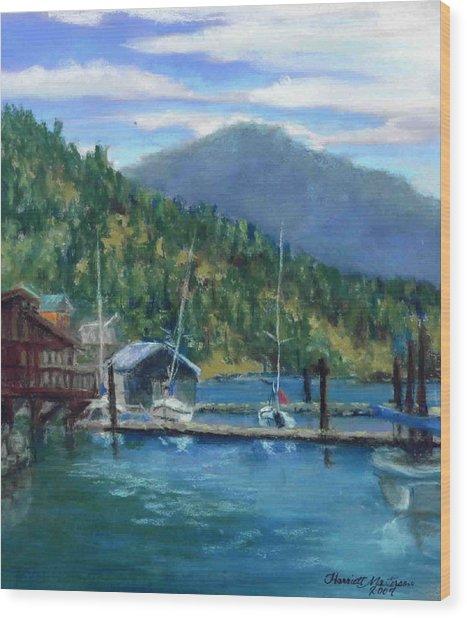 Bayview Marina Wood Print