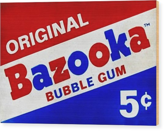 Bazooka Bubble Gum  Wood Print