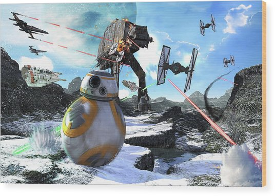 Bb-8 Escaping The Empire Rath Wood Print